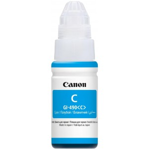 Canon GI-490 Cyan Ink Bottle Compatible with Canon PIXMA G1400/2400/3400