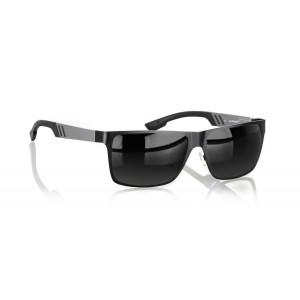 Gunnar Optiks VIN-00105 Vinyl Full Rim Ergonomic Advanced Computer Glasses with Grey Lens Tint, Onyx Frame Finish