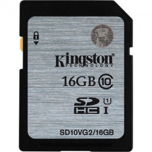 Kingston 16GB UHS-I SDHC Flash Memory Card (Class 10)