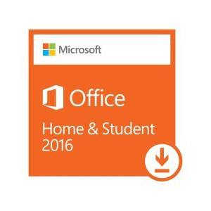 Microsoft Office Home and Student 2016 32/64 bit- No Media -English 1 License