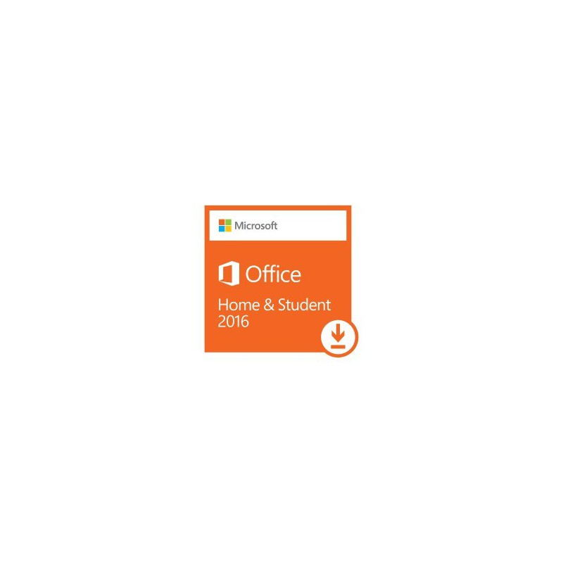 Microsoft Office Home and Student 2016 32/64 bit Software - No Media  -English 1 License -Word, Excel, PowerPoint & OneNote