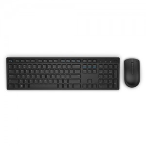 Dell Wireless Keyboard and Mouse - KM636 - UK (QWERTY)- Black