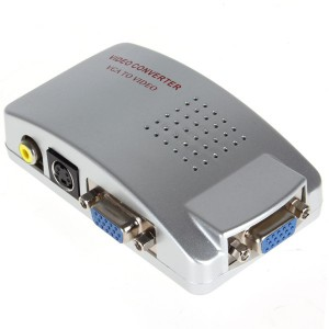 VGA to Video High Resolution Conversion Box-Video Converter with USB & S-Video Cable