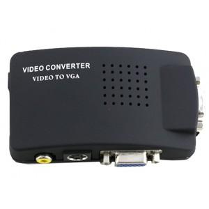 Advanced High Resolution AV/S Video To VGA TV Converter Adapter