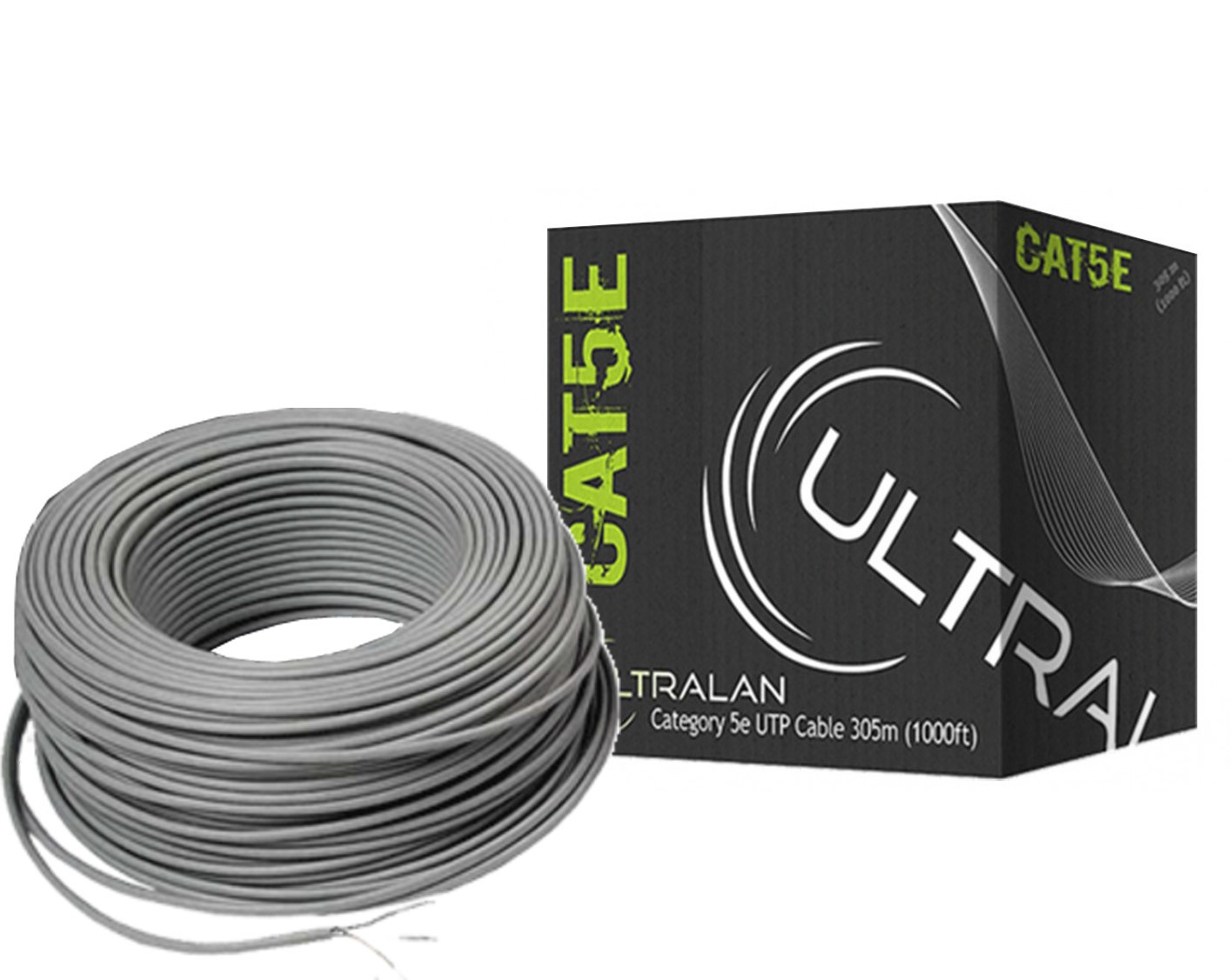 Ultralan Lan Ethernet Cable Cat5e Solid Utp 305m Geewiz Cat 5e Wiring