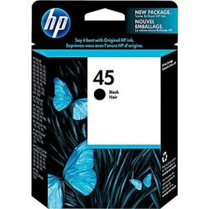HP NO. 45 LARGE BLACK INJET CARTRIDGE