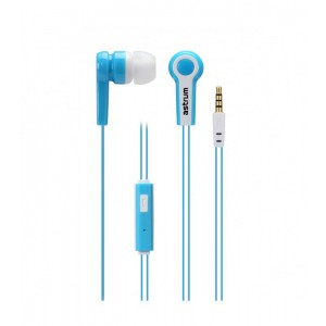 Astrum EARPHONE WIRE MIC 3.5MM BLUE + WHITE