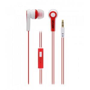 Astrum EARPHONE WIRE MIC 3.5MM RED + BLACK