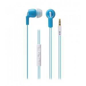 Astrum EARPHONE WIRE MIC 3.5MM UNIVERSAL BLUE + WHITE