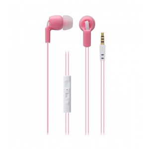 Astrum EARPHONE WIRE MIC 3.5MM UNIVERSAL PINK + WHITE