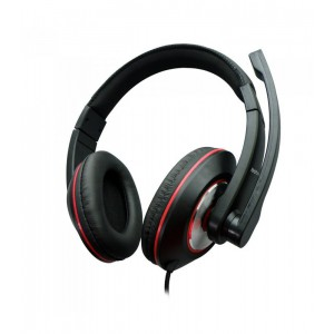 Astrum HEADSET FIX MIC LARGE CUP BLACK + RED
