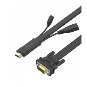 Astrum DA460 HDMI TO VGA + AUDIO 2m CABLE FLAT