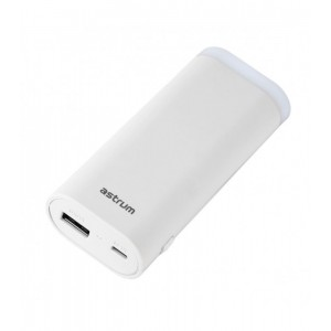 Astrum PB540 POWER BANK 5200MAH TORCH 1A WHITE