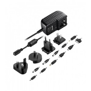 Astrum HOME CHARGER 2.1AMP 4 PLUGS TRAVEL BLACK