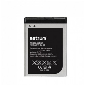 Astrum ANOBL4B NO 6111 BL-4B 600MAH Battery