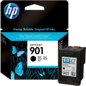 HP 901 Black Officejet Ink Cartridge, upto 200 pages @ 5%