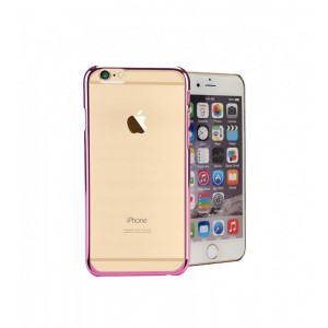 Astrum MOBILE BUMPER CASE CLEAR ELECTRO PAINT PINK