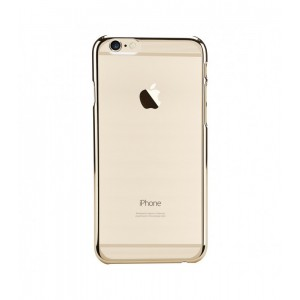 Astrum MOBILE BUMPER CASE CLEAR WITH STRIP EP GOLD