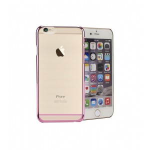 Astrum MOBILE BUMPER CASE CLEAR WITH STRIP EP PINK