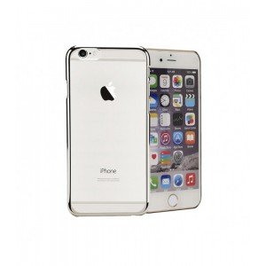Astrum MOBILE BUMPER CASE CLEAR WITH STRIP EP SILVER
