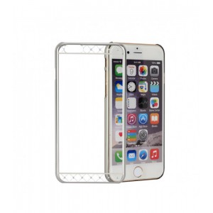 Astrum MOBILE BUMPER CASE DIMOND STRIP EP SILVER