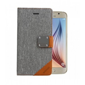 Astrum MOBILE CASE DAIRY FLIP COVER LEATHER GREY