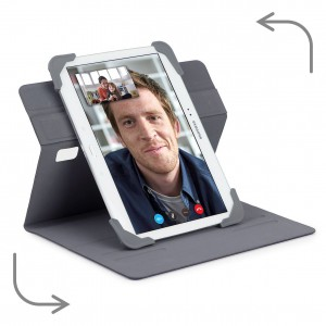 Targus Fit N' Grip 9-10 inch Rotating Universal Tablet Case - Grey