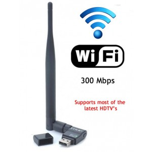300mbps Wireless Adapter **Support for the latest HD Televisions**