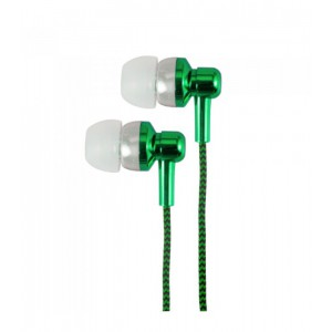 EB250 EARPHONE WIRE MIC 3.5MM GREEN