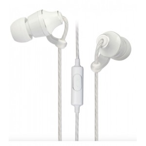 EB400 EARPHONE METAL WIRE MIC WHITE