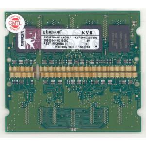 Kingston KVR667D2S5/256  ValueRAM PC2-5300 DDR2 667MHz SDRAM Laptop Memory