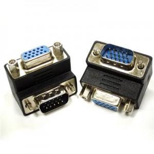 Unbranded ADA014  VGA Male to VGA Female 90 degree Angle Adaptor