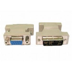 Unbranded DVI010 DVI-A Analog to VGA Adaptor