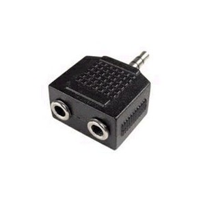 Unbranded ADA020  Stereo 3.5mm Male to 2x Stereo 3.5mm Female Adaptor