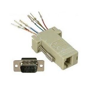Unbranded ADA024  RS232 9 Pin Male Serial to RJ45 Converter