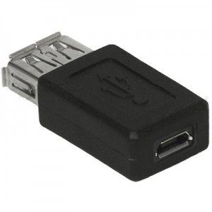 Unbranded USB102 USB Female to Micro USB Female Adapter