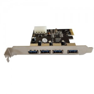Unbranded E0005 USB 3.0 4x Ports PCI-e Card