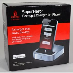 Iomega Superhero Iphone Backup & Charger