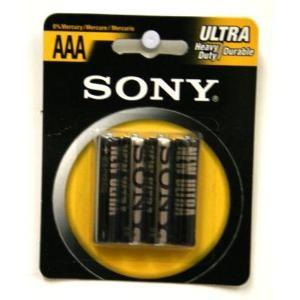 Sony RO3-NUB4A 4 Pack AAA Battery Heavy Duty