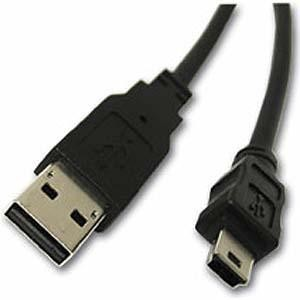 Unbranded CAB026  USB A Male to Mini Male USB Cable 1.2m Long