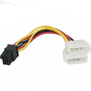 Unbranded MOCAB2 Molex to 6 Pin Power Converter for Graphics Card