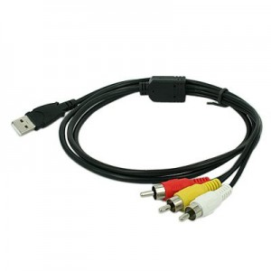 Unbranded RCA009  3 RCA to USB Cable 1.5m Long