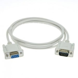 Unbranded SER001  Male 9 Pin to Female 9 Pin Serial Cord 1.5m Long