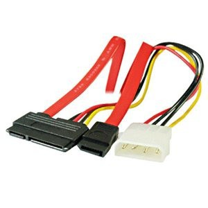 Unbranded SATA22  SATA 7+15 Power Plus Data Cable