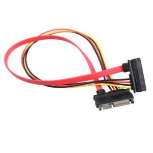 Unbranded SATA001 SATA 6+7 Data + Power Cable 45cm Extention