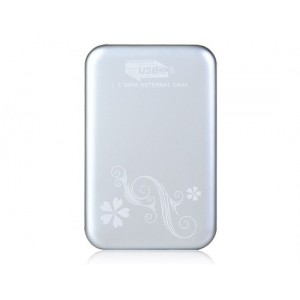 """Unbranded USB3-EXT-SLV  External 2.5"""" Chassis SATA USB 3.0 Type A Silver"""