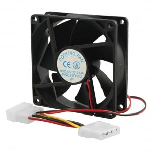 CHASSIS FAN: 80MM BLACK