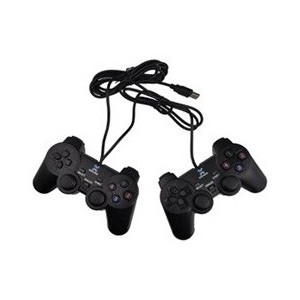 Unbranded GAMEPAD-DBL Double Game Pad In 1 Pack -USB with Vibration