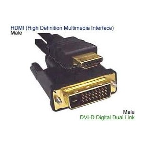 Unbranded CAB052 HDMI to DVI-D Cable 5m Long