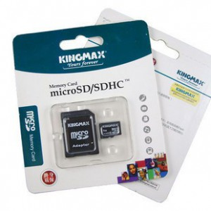 Kingmax KD9A1EAL01GZ10 Micro SD 1GB Retail Pack